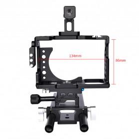 YELANGU Camera Cage Rig Kit for Sony A7 A7K A72 A73 A7S2 A7R2 A7R3 A7X - CA7 - Black - 10