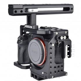 YELANGU Camera Cage Rig Handle Stabilizer Kit for Sony A7 A7K A72 A73 A7S2 A7R2 A7R3 A7X - CA7 - Black - 1