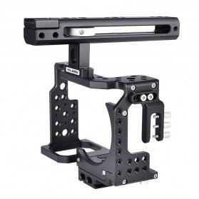 YELANGU Camera Cage Rig Handle Stabilizer Kit for Sony A7 A7K A72 A73 A7S2 A7R2 A7R3 A7X - CA7 - Black - 2
