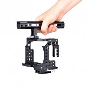YELANGU Camera Cage Rig Handle Stabilizer Kit for Sony A7 A7K A72 A73 A7S2 A7R2 A7R3 A7X - CA7 - Black - 4