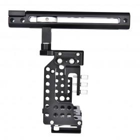 YELANGU Camera Cage Rig Handle Stabilizer Kit for Sony A7 A7K A72 A73 A7S2 A7R2 A7R3 A7X - CA7 - Black - 5