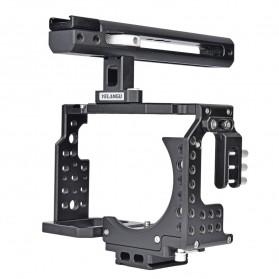 YELANGU Camera Cage Rig Handle Stabilizer Kit for Sony A7 A7K A72 A73 A7S2 A7R2 A7R3 A7X - CA7 - Black - 6