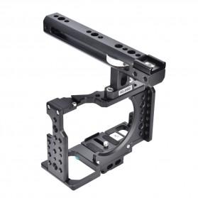 YELANGU Camera Cage Rig Handle Stabilizer Kit for Sony A7 A7K A72 A73 A7S2 A7R2 A7R3 A7X - CA7 - Black - 7