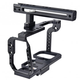YELANGU Camera Cage Rig Stabilizer Kit with Handle for BMPCC 4K - C9 - Black - 2