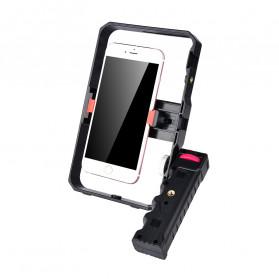 YELANGU U-Rig Smartphone Handheld Rig Stabilizer with Hot Shoe Handle - PC02 - Black - 2