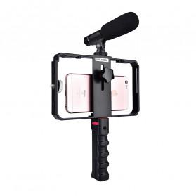 YELANGU U-Rig Smartphone Handheld Rig Stabilizer with Hot Shoe Handle - PC02 - Black - 4