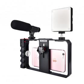 YELANGU U-Rig Smartphone Handheld Rig Stabilizer with Hot Shoe Handle - PC02 - Black - 5