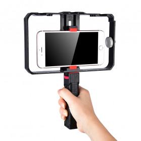 YELANGU U-Rig Smartphone Handheld Rig Stabilizer with Hot Shoe Handle - PC02 - Black - 6
