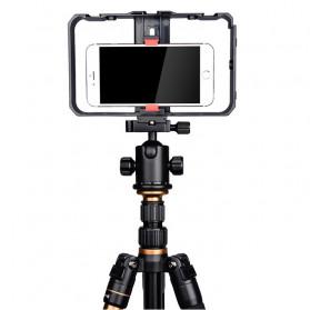 YELANGU U-Rig Smartphone Handheld Rig Stabilizer with Hot Shoe Handle - PC02 - Black - 7
