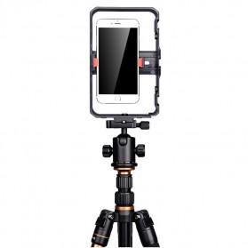 YELANGU U-Rig Smartphone Handheld Rig Stabilizer with Hot Shoe Handle - PC02 - Black - 8