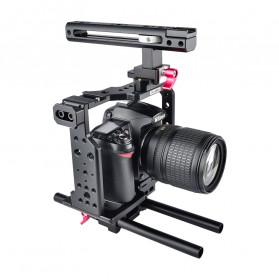 YELANGU Camera Cage Rig Handle Stabilizer Kit for Canon DSLR - C8 - Black - 2