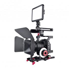YELANGU Camera Cage Rig Handle Stabilizer Kit for Canon DSLR - C8 - Black - 3