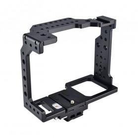 YELANGU Camera Cage Rig Handle Stabilizer Kit for Canon DSLR - C8 - Black - 4