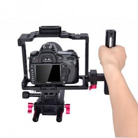 YELANGU Camera Cage Rig Handle Stabilizer Kit for Canon DSLR - C8 - Black - 6