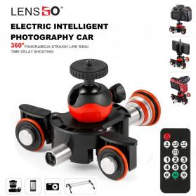 LENSGO Camera Dolly Slider Motor Elektrik Remote Control - L8X - Black/Red