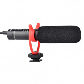 YELANGU Portable Shotgun Microphone Condenser USB Rechargeable for DSLR Camcorder - MIC05 - Black - 5