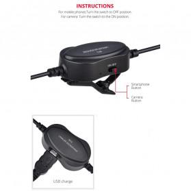 YELANGU Professional Recording Lavalier Video Microphone Clip 3.5mm - MY2 - Black - 2