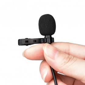 YELANGU Professional Recording Lavalier Video Microphone Clip 3.5mm - MY2 - Black - 3