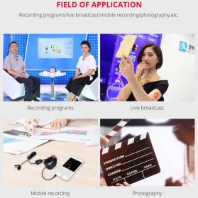 YELANGU Professional Recording Lavalier Video Microphone Clip 3.5mm - MY2 - Black - 6