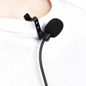 YELANGU Professional Recording Lavalier Video Microphone Clip 3.5mm - MY2 - Black - 4
