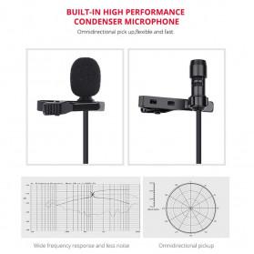 YELANGU Professional Recording Lavalier Video Microphone Clip 3.5mm - MY2 - Black - 5