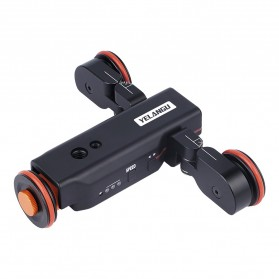 YELANGU Lightsaber Wolf Dolly Slider Motorized Kamera DSLR with Remote Control and USB Interface - L4X - Black