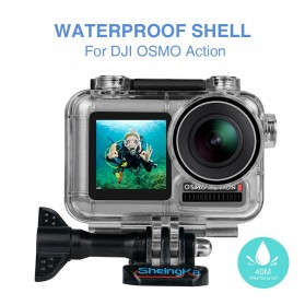Sheingka Underwater Waterproof Housing Case for DJI Osmo Action - FLW306 - Black