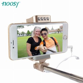 Noosy Night Sky Selfie Stick with Wired Remote Shutter, LED Light and Back Mirror - BR10 - Black - 4