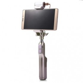 Noosy Night Sky Selfie Stick with Bluetooth Remote Shutter, LED Light and Back Mirror - BR13 - Golden - 2
