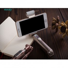 Noosy Night Sky Selfie Stick with Bluetooth Remote Shutter, LED Light and Back Mirror - BR13 - Golden - 9