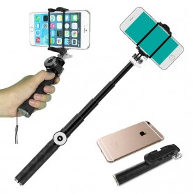 Noosy Mini Selfie Stick with Bluetooth Remote Shutter - BR0801 - Blue - 2