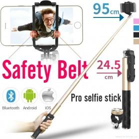 Noosy Pro Selfie Stick with Bluetooth Remote Shutter - BR0802 - Black - 2