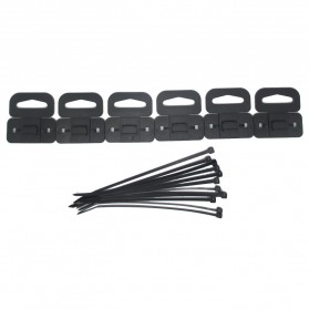 Drift 12pcs Zip Ties + 6pcs Slot Hooks - Black