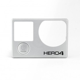 Original Front Panel + Power Mode Button Cover for GoPro Hero4 - Silver