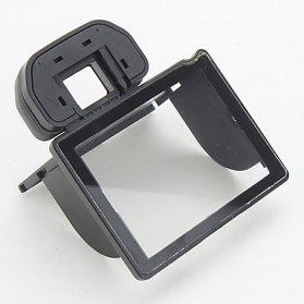 Rubber Eyecup with LCD Screen Protector for Canon EOS 50D - Black