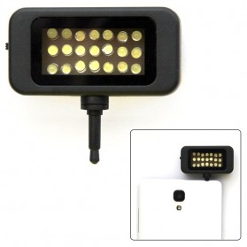 Instant Pro Universal 21 LED Flash Spotlight for Smartphone - HS-SGD01 - Black - 1