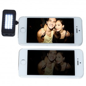 Instant Pro Universal 21 LED Flash Spotlight for Smartphone - HS-SGD01 - Black - 4