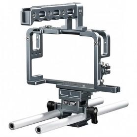 Camera Stabilizer & Handle - Sevenoak Cage Kit for Panasonic Lumix DMC-GH3 / GH4 Camera - SK-GHC20 - Silver
