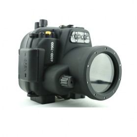 Meikon Waterproof Camera Case for Canon 650D/700D - Black