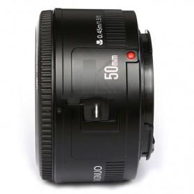YONGNUO 50mm F/1.8 Lens Large Aperture AF MF - Black - 3