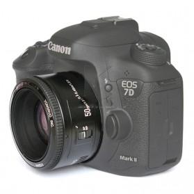 YONGNUO 50mm F/1.8 Lens Large Aperture AF MF - Black - 4