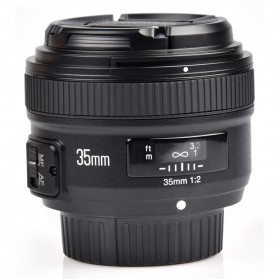 YONGNUO 35mm F/2 Lens Wide Angle AF MF - Black