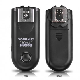 YONGNUO Digital Wireless Flash Trigger Canon Nikon Camera - RF-603C II - Black