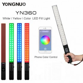 Yongnuo Digital Handheld Lightstick Foto Video RGB LED Bluetooth 2560 Lumens - YN360 - Black
