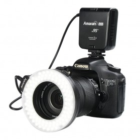 Aputure Halo CRI 95+ LED Flash Ring for Canon Camera - HC100 - Black
