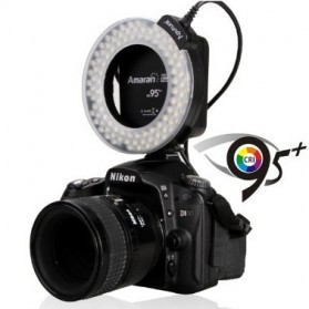 Aputure Halo CRI 95+ LED Flash Ring for Nikon Camera - AHL-HN100 - Black