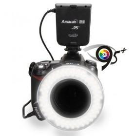 Aputure Halo CRI 95+ LED Flash Ring for Nikon Camera - AHL-HN100 - Black - 2