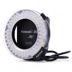 Aputure Halo CRI 95+ LED Flash Ring for Nikon Camera - AHL-HN100 - Black - 5