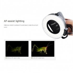 Aputure Halo CRI 95+ LED Flash Ring for Nikon Camera - AHL-HN100 - Black - 7