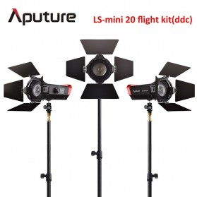Aputure Light Strom LS-mini 20 DDC Flight Kit 3 PCS with Light Stand - Black - 1
